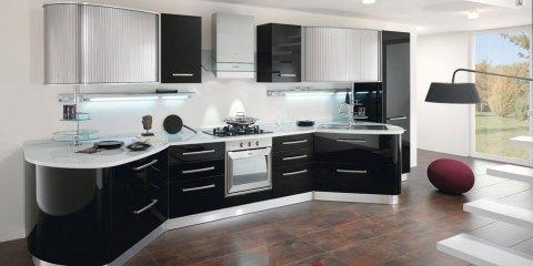 cristalliere moderne : Home Spar Spar Round Nero e bianco